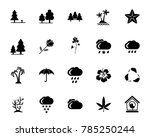nature icon set | Shutterstock .eps vector #785250244