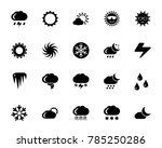weather conditions icon set | Shutterstock .eps vector #785250286