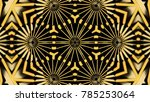 abstract background with gold... | Shutterstock . vector #785253064