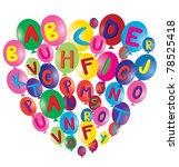 vector balloons with alphabet... | Shutterstock .eps vector #78525418