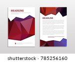 abstract vector modern brochure ... | Shutterstock .eps vector #785256160