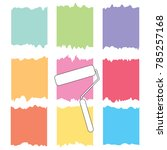 paint roller and colorful paint ... | Shutterstock .eps vector #785257168