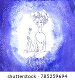 astrology sign virgo | Shutterstock .eps vector #785259694