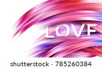 happy valentines day card with... | Shutterstock .eps vector #785260384