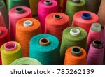 Colorful Yarn On Spool  Yarn O...
