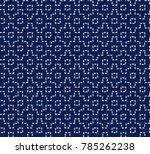 japanese sashiko ornament....   Shutterstock .eps vector #785262238