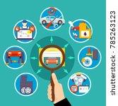 auto service circle design... | Shutterstock . vector #785263123