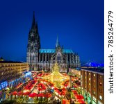 cologne christmas market with... | Shutterstock . vector #785264779