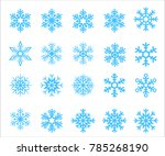 20 snowflake shape collection   Shutterstock .eps vector #785268190