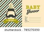 boy baby shower invite greeting ... | Shutterstock .eps vector #785270350