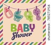 baby shower invite greeting... | Shutterstock .eps vector #785271916