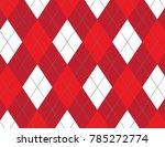 red argyle background   Shutterstock .eps vector #785272774