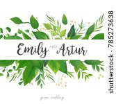 wedding invitation  save the...   Shutterstock .eps vector #785273638
