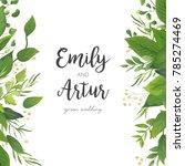 wedding invitation  save the...   Shutterstock .eps vector #785274469