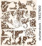 ornate flourish elements   Shutterstock .eps vector #78527800
