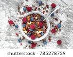 homemade chocolate muesli or...   Shutterstock . vector #785278729