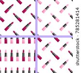 set of seamless pattern with... | Shutterstock .eps vector #785281414