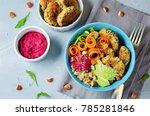 Quinoa Beet Hummus Falafel Bowl ...