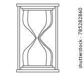 hourglass icon. outline... | Shutterstock .eps vector #785282860