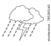 thunderstorm icon. outline... | Shutterstock .eps vector #785283160