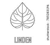 Linden Leaf Icon. Outline...