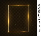 vector glowing magic square... | Shutterstock .eps vector #785286694