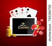 online casino design poster... | Shutterstock .eps vector #785286700