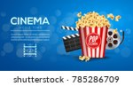 movie film banner design... | Shutterstock .eps vector #785286709
