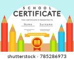 school certificate template.... | Shutterstock .eps vector #785286973