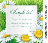 greeting card  floral... | Shutterstock .eps vector #785287804