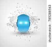 futuristic modern style machine ... | Shutterstock .eps vector #785288563