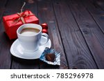 valentine's day concept. cup of ... | Shutterstock . vector #785296978