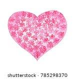 watercolor st. valentine s day  ... | Shutterstock . vector #785298370