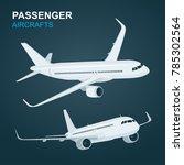 Passenger Aircraft.  Airplane...