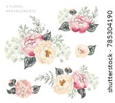 set of the floral arrangements. ...   Shutterstock .eps vector #785304190