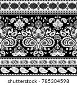 indian rug paisley ornament... | Shutterstock .eps vector #785304598