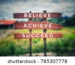 motivational and inspirational... | Shutterstock . vector #785307778