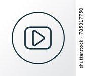 begin icon line symbol. premium ... | Shutterstock . vector #785317750