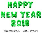 happy new year english alphabet ... | Shutterstock . vector #785319634