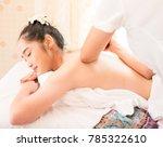 young healthy asian woman lying ... | Shutterstock . vector #785322610