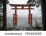 Stock photo the hakone shrine hakone jinja is a japanese shinto shrine on the shores of lake ashi in the town 785323030