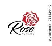 red rose logo   Shutterstock .eps vector #785324440
