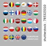 glossy rounded european union... | Shutterstock .eps vector #785325310
