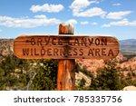 bryce canyon wilderness area... | Shutterstock . vector #785335756