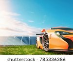 natural energy cars and solar... | Shutterstock . vector #785336386