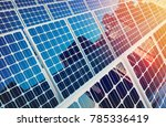 solar panels on buildings... | Shutterstock . vector #785336419