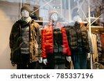 men's and women's clothing... | Shutterstock . vector #785337196