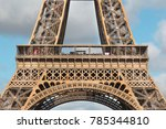 view of the eiffel tower in... | Shutterstock . vector #785344810
