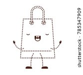 trapezoid animated kawaii... | Shutterstock .eps vector #785347909