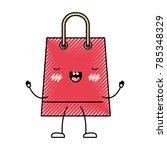 trapezoid animated kawaii... | Shutterstock .eps vector #785348329